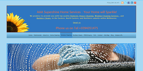 AAA House cleaning main page image