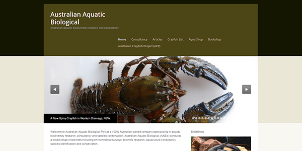 Australian Aquatic Biological main page