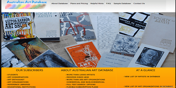 Australian Art Database - Joomla Website Design