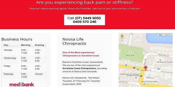 noosa life chiropractic contact us