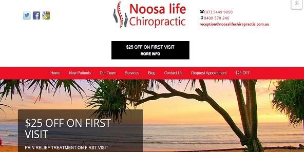 Noosa Life Chiropractic - WordPress Website Redesign