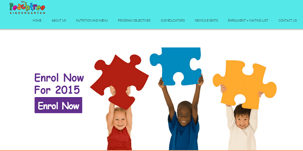 peachtree kindergarten - wordpress website design