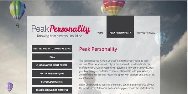 Peak Personality- wordpress redesign & maintenance