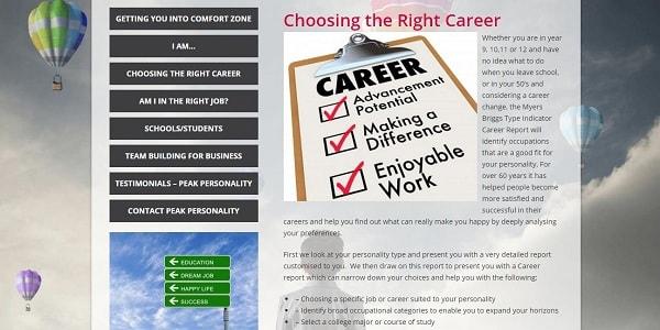 peakporsonality career