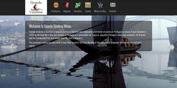 grande vindima- wordpress customization and design wine