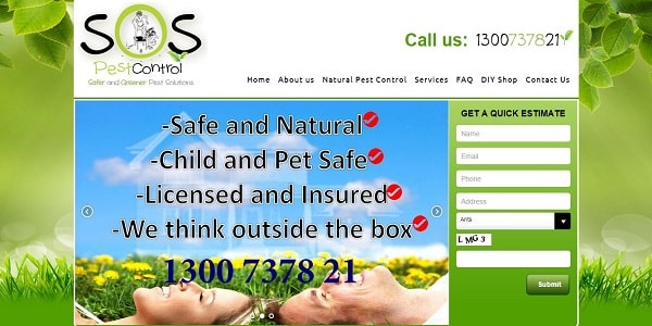 SOS Pest Control wordpress website redesign